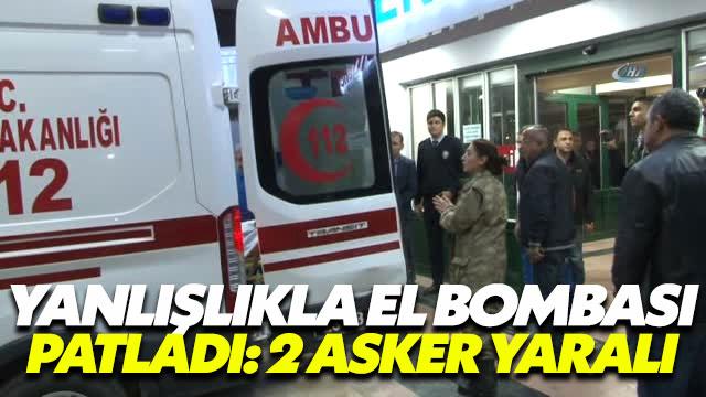 Kazayla el bombası patladı: 2 asker yaralı
