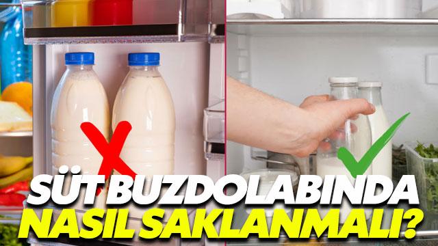 Süt ve süt ürünleri buzdolabında nasıl saklanmalı?