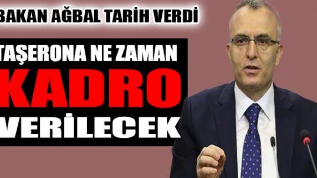 Taşerona Kadro Nihai Karara Bağlanıyor