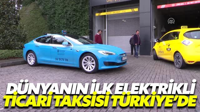 Dünyada ilk! Elektrikli taksiler Türkiye'de…