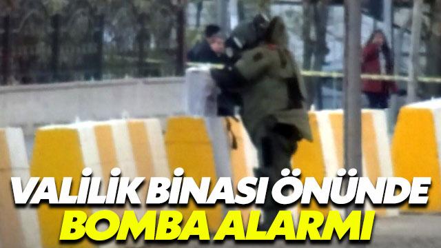 Valilik önünde bomba alarmı!