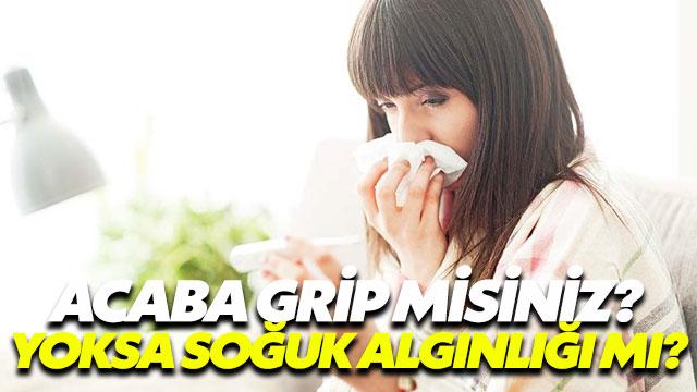 Grip misiniz yoksa soğuk algınlığı mı?