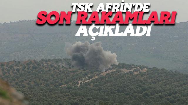 TSK Afrin'de Son Rakamları Açıkladı
