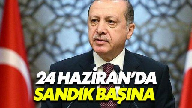 Türkiye 24 Haziran'da erken seçime gidiyor