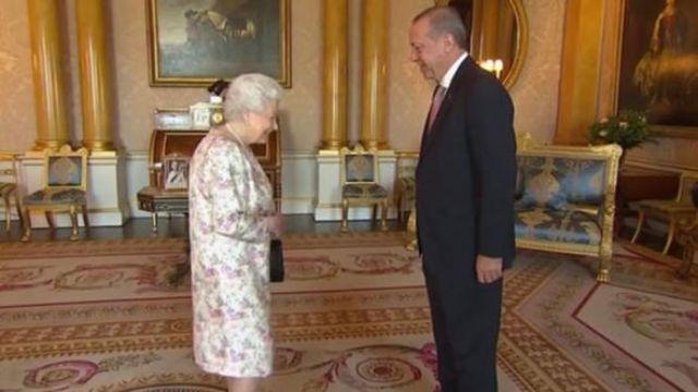 Cumhurbaşkanı Erdoğan, Kraliçe Elizabeth ile görüştü