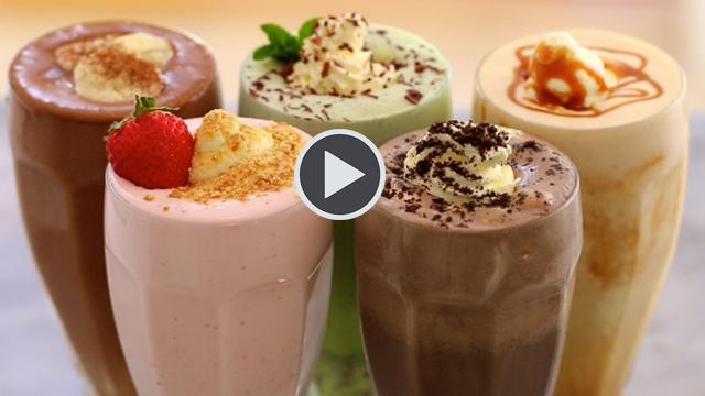 Evde 5 Farklı Lezzette Milkshakes Tarifi...