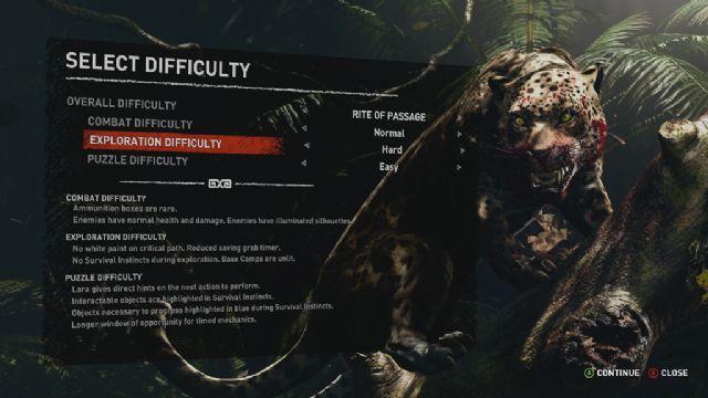 Shadow of the Tomb Raider zorluk seçenekleri neler?