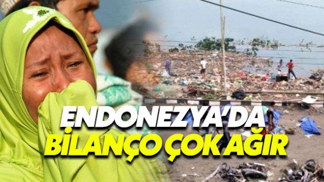 Endonezya'da depremin neden olduğu tsunamide bilanço ağır