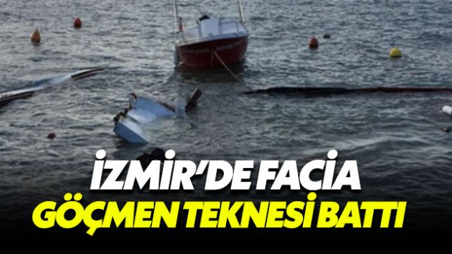 İzmir Karaburun açıklarında göçmen faciası