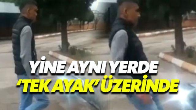 Atatürk büstüne tokat atan şahsa 'tek ayak' cezası