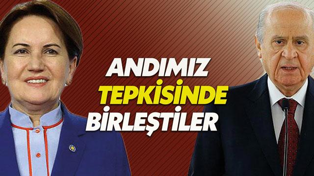 MHP ve İYİ Parti Andımız tepkisinde birleşti