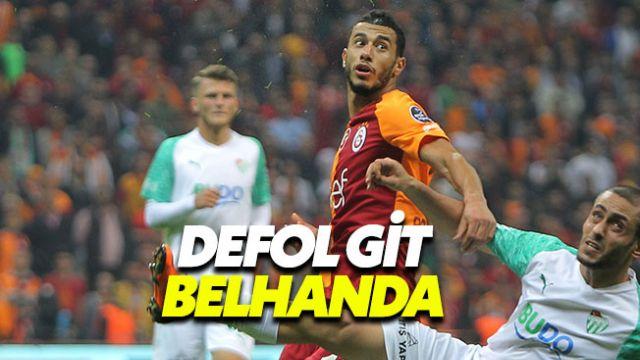 Belhanda Galatasaray taraftarını çileden çıkardı