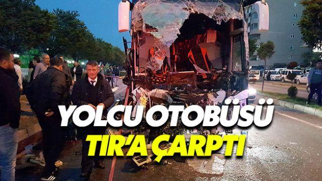 Zonguldak'ta korkunç kaza: Yolcu otobüsü TIR'a çarptı