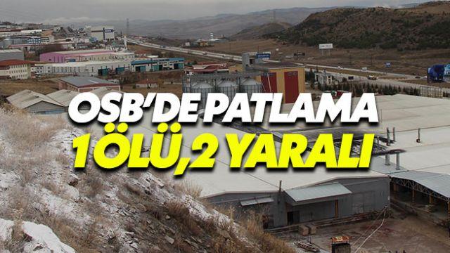 Tıbbi gaz dolum tesisinde patlama: 1 işçi öldü, 2 işçi yaralandı