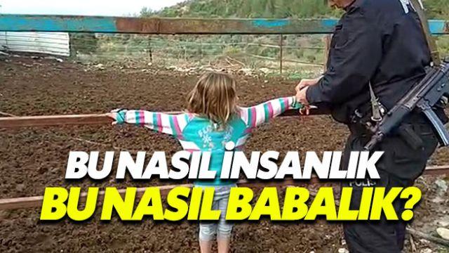 Suriyeli baba yaramazlık yapan çocuklarını çite bağladı