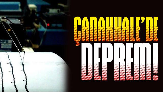 AFAD'dan Çanakkale depremi açıklaması!