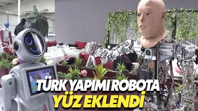 Konya'da Üretilen İnsansı Robota Yüz Eklendi