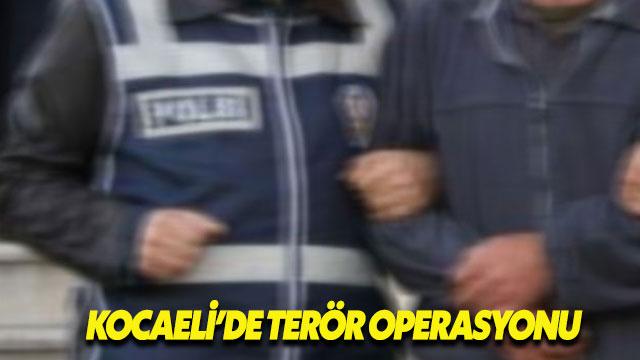 Kocaeli'deki terör operasyonunda çok sayıda gözaltı