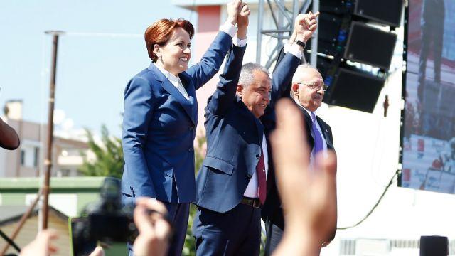 CHP ve İYİ Parti Antalya'da ortak miting düzenledi