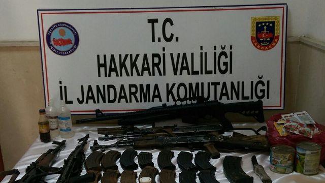 Çukurca'da PKK'ya ait mühimmat ele geçirildi