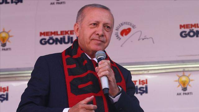 Cumhurbaşkanı Erdoğan Eskişehir'de konuşuyor