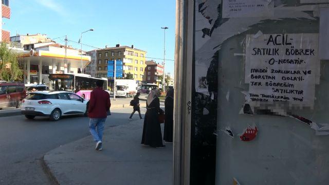 İstanbul Sultangazi'de 'Satılık böbrek ilanı'