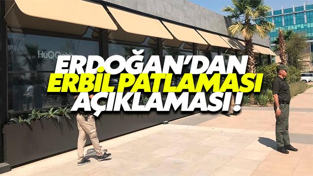 Erdoğan'dan Patlamaya İlişkin Açıklamalar !