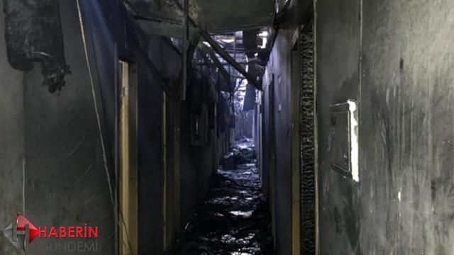 Ukrayna'da korkutan otel yangını!