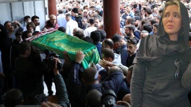 Neslican Tay'ın cenazesinde Selin Ciğerci'de vardı
