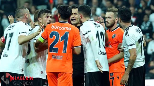 Beşiktaş Başakşehir maçında ortalık karıştı