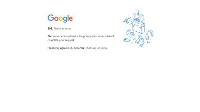 Google, Youtube ve Gmail çöktü mü?