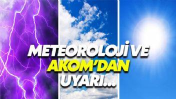 AKOM ve Meteoroloji'den İstanbul İçin Uyarı