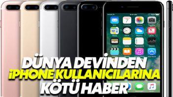 Dünya Devi Apple'dan iPhone Kullanıcılarına Kötü Haber