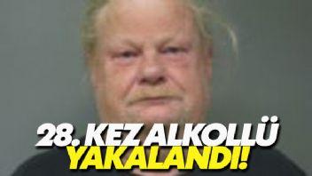 ABD'de bir adam 28. kez alkollü araç kullanırken yakalandı