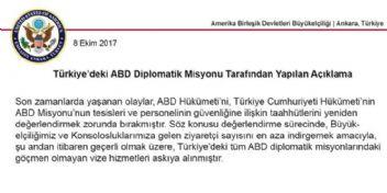 Şok gelişme!..Amerika Türkiye'ye kapılarını kapattı..