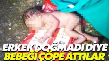 Erkek doğmadı diye, bebeği çöpe attılar!