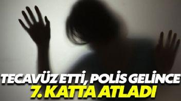 Defalarca tecavüz etti, polis gelince camdan atladı
