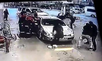 Ankara'da trafik magandaları gazilere saldırdı