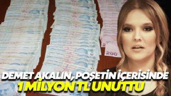 Demet Akalın, poşetin içerisinde 1 milyon TL unuttu
