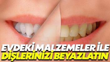 Evdeki malzemeler ile dişlerinizi beyazlatın