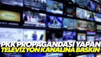 PKK'nın Televizyon kanalına polis baskını