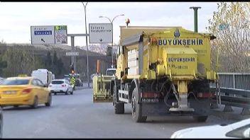 İstanbul Büyükşehir Belediyesi kar yağışı hazırlıklarına başladı