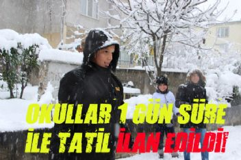 Kars'ta Okullara Ara Verildi Kar Tatili Geldi!