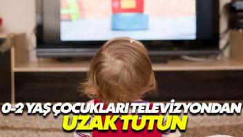 Çocukları 0-2 yaş döneminde televizyondan uzak tutun