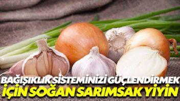 Bağışıklık sistemini güçlendirmek için soğan ve sarımsak tüketin