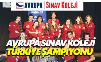 Avrupa Sınav Koleji Robotik Yarışması Türkiye Şampiyonu oldu