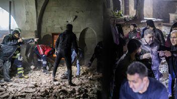Teröristlerin attığı roket Kilis'te camiye isabet etti