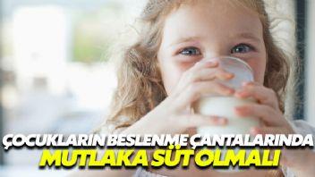 Çocuğunuzun beslenmesinde mutlaka süt olsun