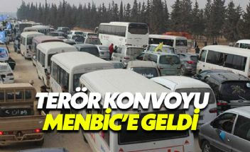 PKK konvoyu Menbic'e girerken görüntülendi