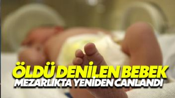 Doğumda öldü denilen bebek Mezarlık yolunda yeniden canlandı
